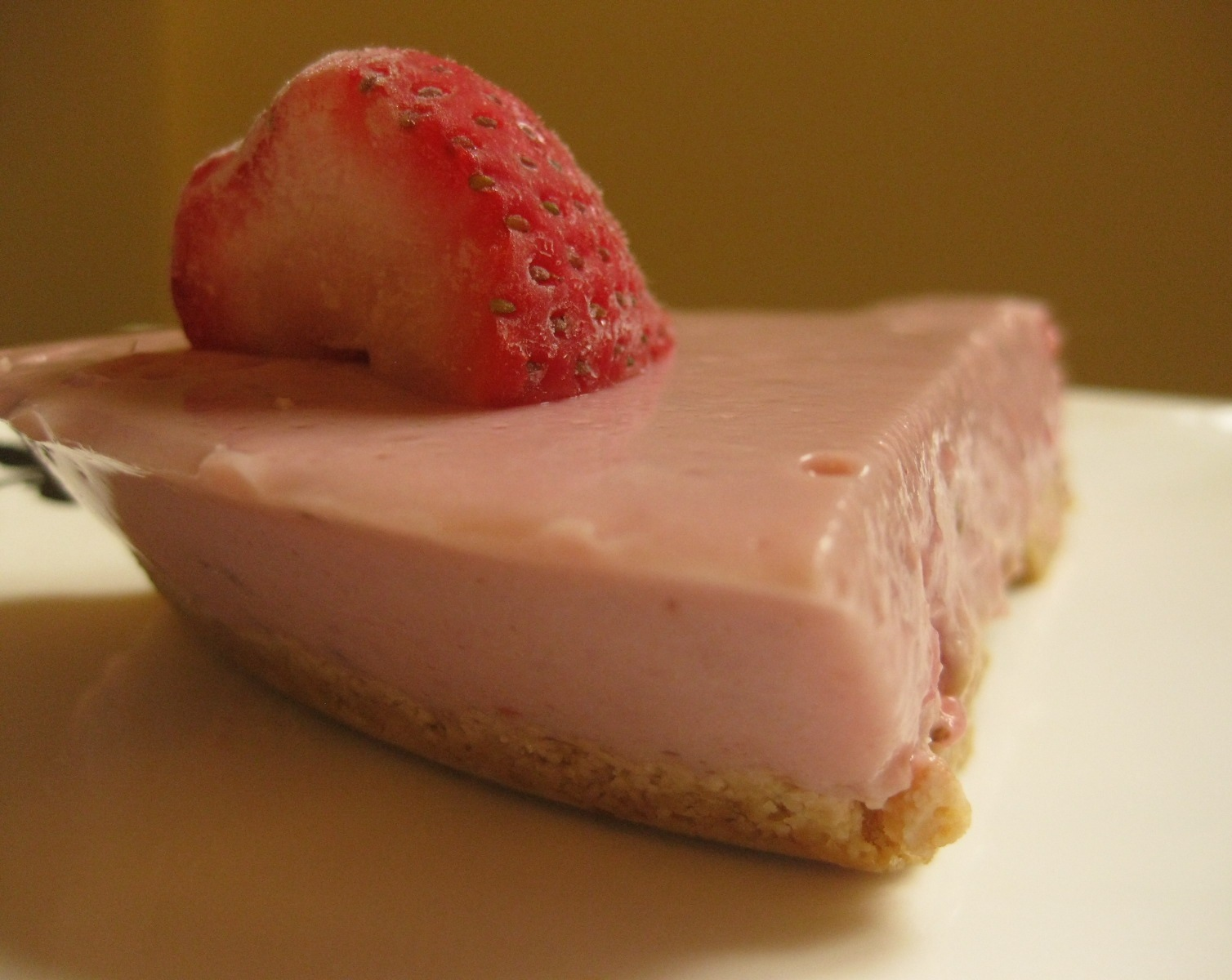 Mum's Strawberry-Yoghurt Fridge Tart… | Blissfully Vegan